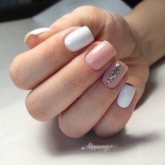144 best natural short square nails design for summer nails - 10 Polygel Nails, Pink Nails, Hair And Nails, Short Square Nails, Nagel Gel, Perfect Nails, Nails Inspiration, Beauty Nails, Summer Nails