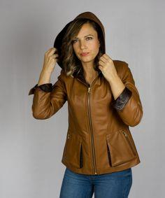 Resultado de imagen para moda en chaquetas de cuero para dama con capucha  Chaquetas De Cuero 7937d191e392
