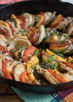 Layered Roasted Vegetables with Parmesan- they are super simple to make and add a little bit of fancy to any meal- #GlutenFree | www.nutritiouseats.com