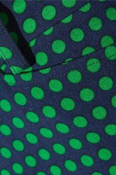 Michael Kors Collection - Polka-dot Stretch-wool Straight-leg Pants - Green - US14