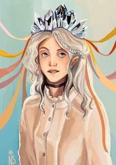 my hobby is to draw 10000k different looks of Luna Lovegood.