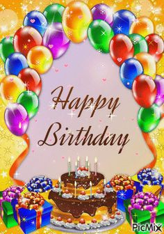 Happy Birthday wishes cards and greeting cards feliz cumple mi niña Happy Birthday Greetings Friends, Happy Birthday Wishes Photos, Happy Birthday Frame, Happy Birthday Video, Happy Birthday Celebration, Happy Birthday Flower, Birthday Blessings, Birthday Wishes Cards, Happy Birthday Balloons