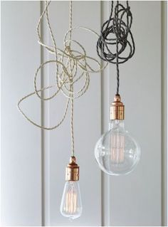 Twisted Flex & Copper Pendant Light Set: Remodelista