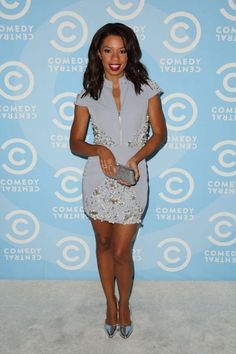 240137a22766 Splurge  Angel Parker s Comedy Central Emmy Party Luciana Balderrama  Classic Spring Galaxy Dress Comedy Central