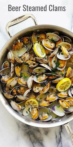 Easy Beer Steamed Clams recipe ever!  The clams are fat, juicy and meaty. A summertime favorite | rasamalaysia.com