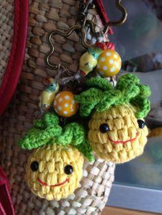 Crochet Pineapple Charm by carmenatelier