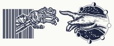 Human and robot's hands tattoo. Symbol of spirituality, religion, connection and interaction, people and artificial intelligence. Robot hands touching with human fingers tattoo and t-shirt design Artificial Intelligence Article, Machine Learning Artificial Intelligence, Artificial Intelligence Technology, Geek Culture, Religion Tattoos, All Seeing Eye Tattoo, 4 Industrial Revolutions, Fourth Industrial Revolution, World History Lessons