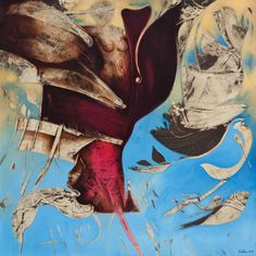 0. Ertuğrul Ateş (1954 – ) (Sarmaş Dolaş III, 2003)♥♥♥   Ertuğrul Ateş resimlerinde uzay boşluğunda yer verdiği, kadın vücut parçaları ve uzuvlarını, kuş, insan figürü ve doğasal organik formların değişime uğramış formlarını, simgesel öğelerle zenginleştirerek, gerçeküstücü anlatıma yönelen bir yaklaşımı yansıtmaktadır. Ertuğrul Ateş, zaman ve mekan duygusunun olmadığı resimlerinde geriye çekilmiş, çerçevelenmiş, oyulmuş biçimlerle, bilinçaltı verilerinin yoğun karmaşasını hissettirerek…