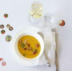 Suppen Warming-up: feincremige Suppe mit intensivem Aroma und zartem Crunch.