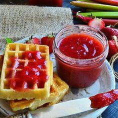 Strawberry Rhubarb Jam....making this tomorrow!! Yay!