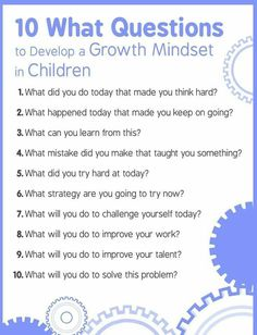 Developing a growth mindset in children