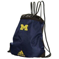 1c3ceb7f45 adidas Michigan Wolverines Navy Blue Wordmark Gym Sack
