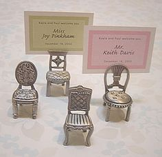Vintage Place Card Holders - Vintage Wedding Favors