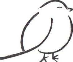 22 Ideas bird doodle art to draw Bird Drawings, Easy Drawings, Animal Drawings, Pencil Drawings, Drawing Birds, Doodle Art, Bird Doodle, Fat Bird, Drawing Tips