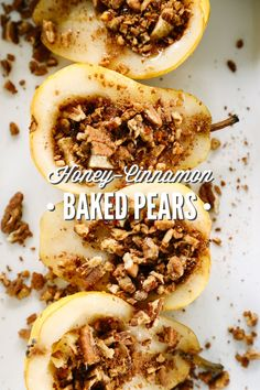 A simple baked pears recipe using real food and healthy ingredients. This flavorful dish only takes a few minutes to prepare, and packs a ton of flavor!