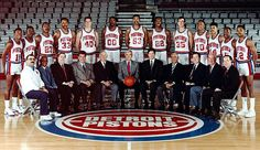 Roster - Motor City Bad Boys: The Back to back World Champion Detroit Pistons Detroit Basketball, Pistons Basketball, Detroit Sports, Basketball Players, Basketball Art, Sports Teams, Detroit Pistons, Karl Malone, Dennis Rodman