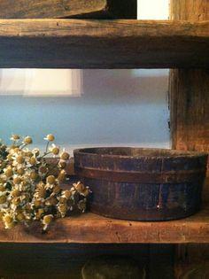old bucket pantry box