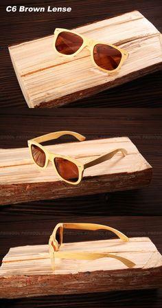 100% Real Top De madeira De bambu De madeira óculos polarizados dos homens  óculos De df96d0ef7c