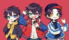 As well as Buster Bros! Mc Lb, Anime Chibi, Anime Art, Dark Drawings, Ichimatsu, Rap Battle, Cool Sketches, Cute Chibi, Wow Products