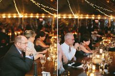 Guests enjoying Ally and Jason's wedding reception for this destination mountain wedding in western north carolina.