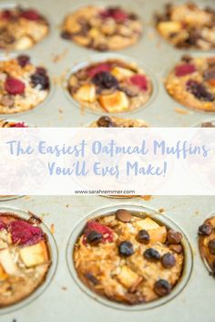sarahremmer.com | The Easiest Oatmeal Muffins You'll Ever Make