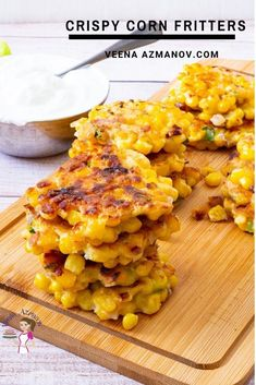 These Sweet Corn Fritters Are Crisp And Golden On The Outside, And Warm And Soft On The Inside. They Taste Like Delicious Balls Of Cornbread Heaven! . Canned Corn Recipes, Corn Fritter Recipes, Corned Beef Recipes, Kitchen Recipes, Cooking Recipes, Healthy Recipes, Bread Recipes, Mini Burger Buns, Corn Patties