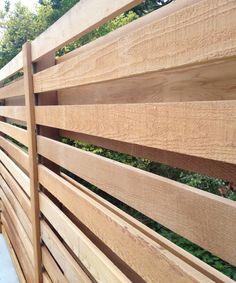 Western red cedar trellis fence