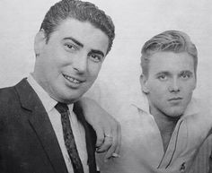 Billy Fury with Larry Parnes.