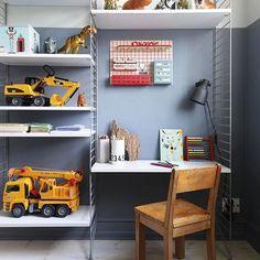 A boy's room. #studiominishop #studiominiinspiration via @boligmagasinetdk; stylist @juliesrumdesign; photographer Thomas Dahl