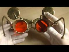 How to make adjustable steampunk goggles