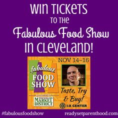 Win Tickets to the Fabulous Food Show in Cleveland! #CLE #fabulousfoodshow #giveaway