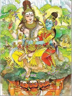 Kala Ksetram — Ravana tries to frighten Shiva by shaking Mount. Shiva Parvati Images, Shiva Hindu, Shiva Art, Shiva Shakti, Krishna Art, Hindu Deities, Hindu Art, Hinduism, Om Namah Shivaya