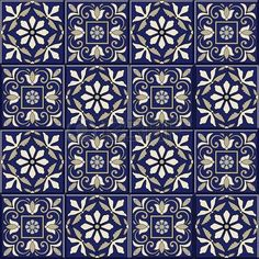 Seamless moroccan portuguese azulejo ornaments vector – My Pin Page Deep Drawing, Art Chinois, Moroccan Pattern, Art Japonais, Turkish Art, Portuguese Tiles, Dot Painting, Tile Art, Tile Patterns