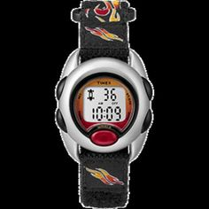 Timex Kids Digital Nylon Band Watch - Flames Countdown Timer, Online Shopping Stores, Chronograph, Watches, Band, Digital, Super Easy, Parents, Kids