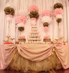 Pink  Brown/Ballerina theme for baby shower or birthday