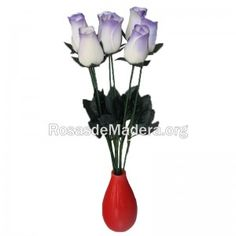 rosa-blanca-morada Plants, White Rose Flower, Wooden Flowers, Roses, Plant, Planets