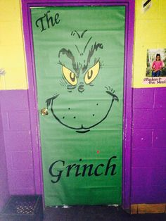 Trendy School Door Decorations For Christmas The Grinch Office Xmas Decorations, Grinch Decorations, Christmas Door Decorations, The Grinch Door Decorations For School, Christmas Classroom Door, Office Christmas, Preschool Christmas, Christmas 2019, Grinch Christmas Party