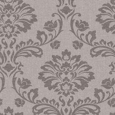 Graham & Brown Midas Brown Vinyl Textured Damask Wallpaper