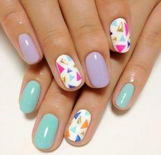 Diseños de Uñas en colores Pastel 6