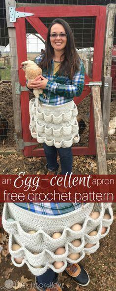 Egg collectors apron. Such a good idea.