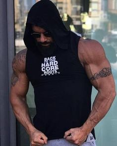 Men s Tank Top Hoodie Fitness Bodybuilding Stringer Crossfit Workout Tank  Top Activewear Male. Mallas De Deporte Para Hombre afe915aa07ff5