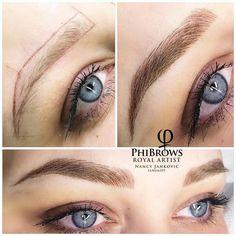 microblading before and after Eyebrow Makeup Tips, Eyebrow Tinting, No Eyeliner Makeup, Natural Eyeliner, Eyeliner Styles, Makeup Lips, Beauty Makeup, Eyebrows Sketch, Mircoblading Eyebrows
