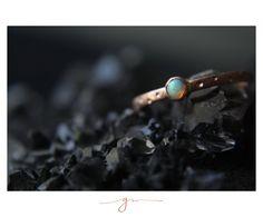 Anillo Luciana Ópalo en Oro Rosa Gems Jewelry, Rose Gold, Frames, Accessories, Gemstone Jewelry