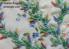 Up and Down Feathered Buttonhole sample