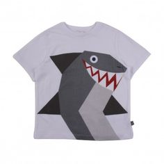 T-shirt Requin Arlo Blanc  Stella McCartney
