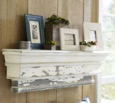 DIY: Pottery Barn Shelf Knock-Off Tutorial - she did an awesome job recreating this $399 PB shelf.