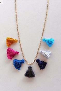 Tassel Necklace   41 Amazing Free People-Inspired DIYs