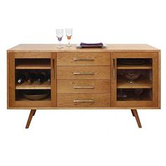 Addison 4 Drawer Buffet with Glass Doors