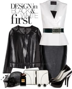 """Black & White"" by celinecucci ❤ liked on Polyvore"