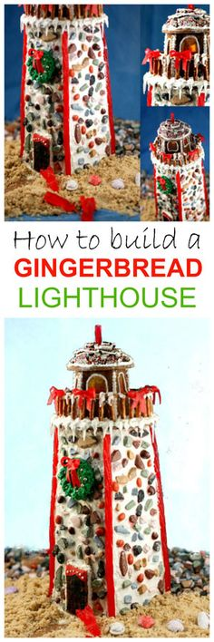 How to build a Gingerbread Lighthouse in no time! With recipe and links to templates and candy. Believe it or not, it's really easy!